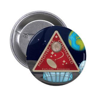 Moonbase Pin Redondo De 2 Pulgadas
