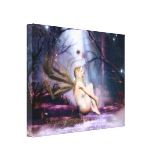 Moonbathing Fairy Canvas Print