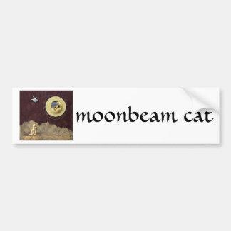 Moonbeam Cat - collage Car Bumper Sticker