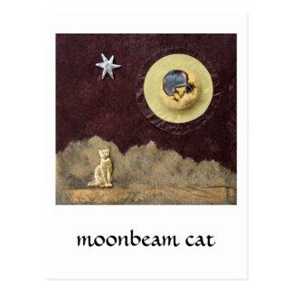 Moonbeam Cat - collage Postcard