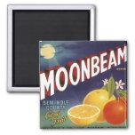 Moonbeam Citrus Crate Label 2 Inch Square Magnet