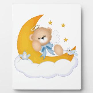 Moonbeams Sleeping Angel Bear Display Plaque
