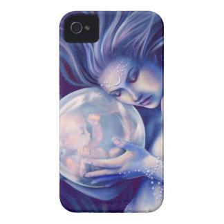 Moonborn - sirena y bebé Case-Mate iPhone 4 coberturas