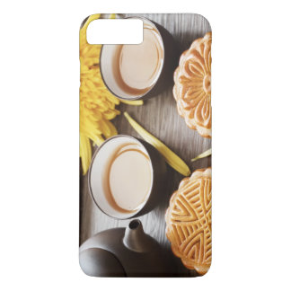 Mooncake and tea,Chinese mid autumn festival iPhone 8 Plus/7 Plus Case