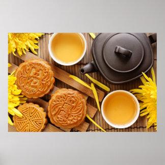Mooncake y té, mediados de festival chino 2 del ot posters