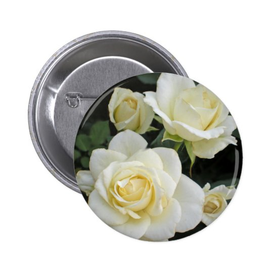 Moondance White Roses and Rosebuds Buttons