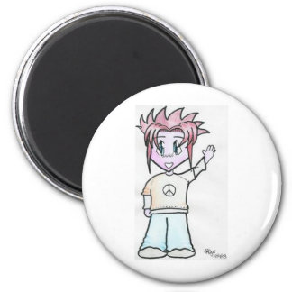 Moondial the 'Net Lover 2 Inch Round Magnet