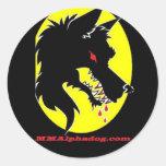 moondog classic round sticker