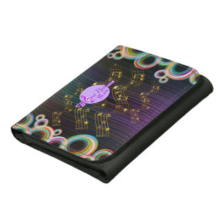 MoonDreams Abstract Music Swirl Sm. Leather Wallet