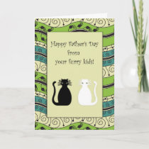 .::MoonDreams::. Happy Father's Day Cats Card