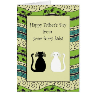 .::MoonDreams::. Happy Father's Day Cats Cards