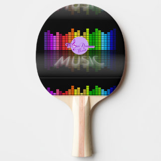 MoonDreams Music Equalizer Ping Pong Paddle