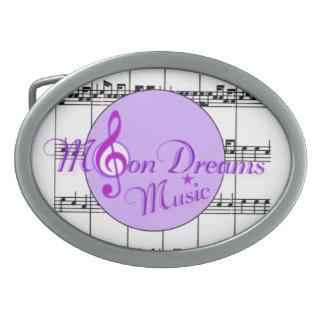 MoonDreams Music Oval Belt Buckle