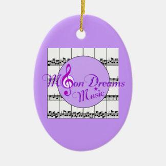 MoonDreams Music Oval Ornament