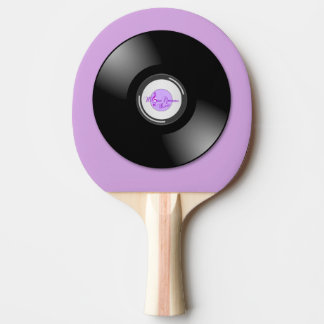 MoonDreams Music Record Purple Ping Pong Paddle