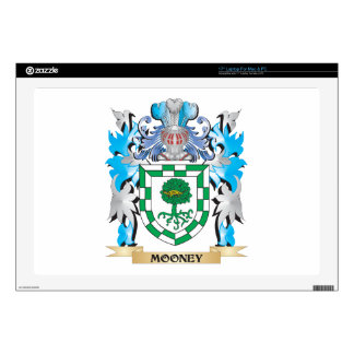 """Mooney Coat of Arms - Family Crest 17"""" Laptop Skins"""