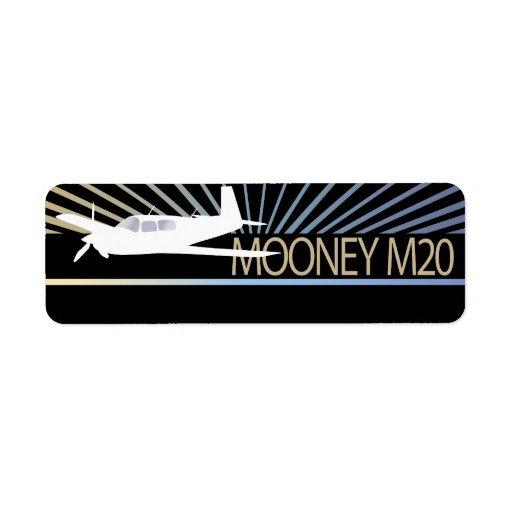 Mooney M20 Aircraft Return Address Label