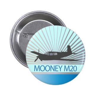 Mooney M20 Aviation 2 Inch Round Button