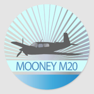 Mooney M20 Aviation Classic Round Sticker