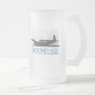 Mooney M20 Aviation Frosted Glass Beer Mug