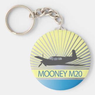 Mooney M20 Aviation Basic Round Button Keychain