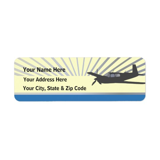 Mooney M20 Aviation Label