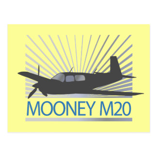Mooney M20 Aviation Postcard