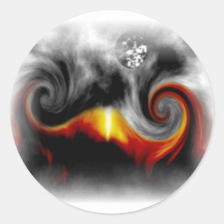 Moonfire 002.jpg classic round sticker