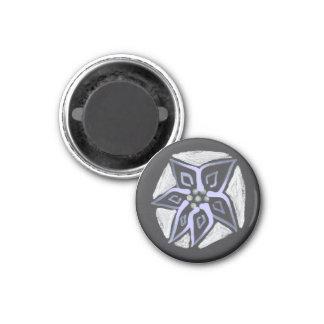 Moonflower 1 Inch Round Magnet