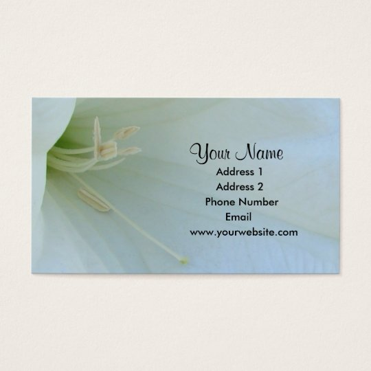 Moonflower Business Cards
