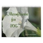 Moonflower Calendar---EDIT YEAR as needed Calendar