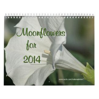 Moonflower Calendar-EDIT YEAR as needed Calendar