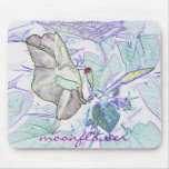 "Moonflower ""drawing' mousepad"