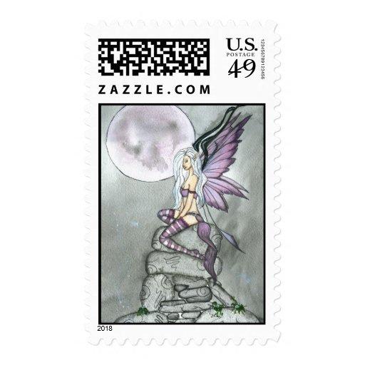 Moonflower Fairy Art Print Postage