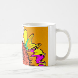 Moonflower Psychedelic Design Classic White Coffee Mug