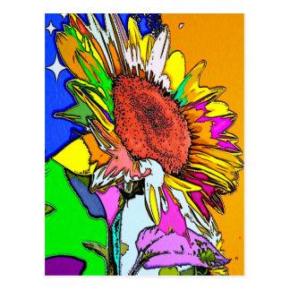 Moonflower Psychedelic Design Postcard
