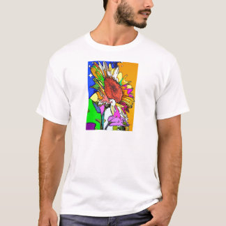 Moonflower Psychedelic Design T-Shirt