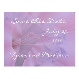 Moonflower-save the date-customize postcard