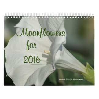 Moonflowers calendar for 2016- change year