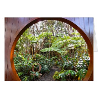 Moongate at Treehouse in Rainforest