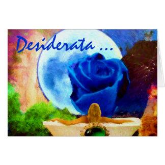 MoonGazer DESIDERATA card