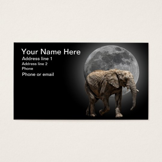 MOONGLOW ELEPHANT #1 BUSINESS CARD