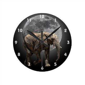 MOONGLOW ELEPHANT 2 ROUND CLOCK
