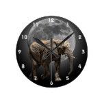 MOONGLOW ELEPHANT 2 WALL CLOCK