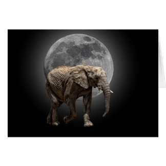 MOONGLOW ELEPHANT GREETING CARD