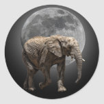 MOONGLOW ELEPHANT CLASSIC ROUND STICKER