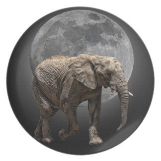 MOONGLOW ELEPHANT DINNER PLATE