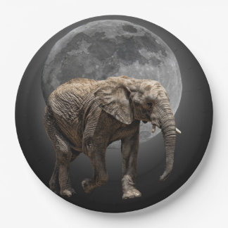 MOONGLOW ELEPHANT PAPER PLATE