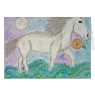 moonhorse stationery note card