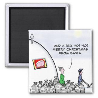 Mooning santa 2 inch square magnet